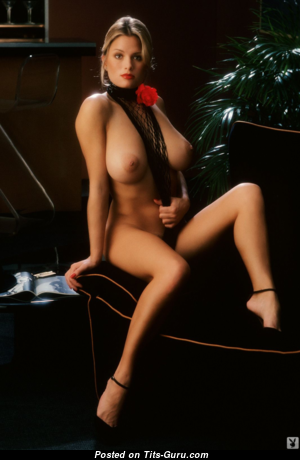 Gig Gangel - Sweet Topless American Playboy Blonde with Sweet Exposed Natural Medium Busts (Vintage Hd Xxx Image)