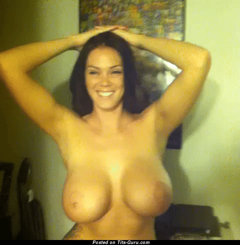 Alison Tyler - Graceful American Red Hair Pornstar Jumping Appealing Naked Mid Size Busts (Xxx Gif)