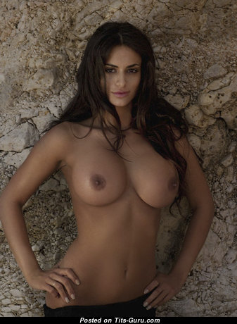Cristina Del Basso - Magnificent Topless Italian Brunette with Magnificent Bare Normal Titties is Smoking (Sex Foto)