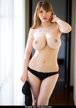 Anri Okita - Amazing Topless Japanese, British Brunette Pornstar & Babe with Amazing Bare Natural Ddd Size Breasts (Hd Porn Pic)