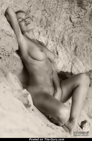 Appealing Lassie with Appealing Bald Natural Substantial Tittes (Xxx Picture)