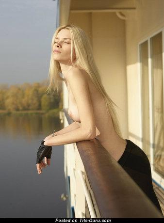 Image. Nude beautiful girl with medium boob photo