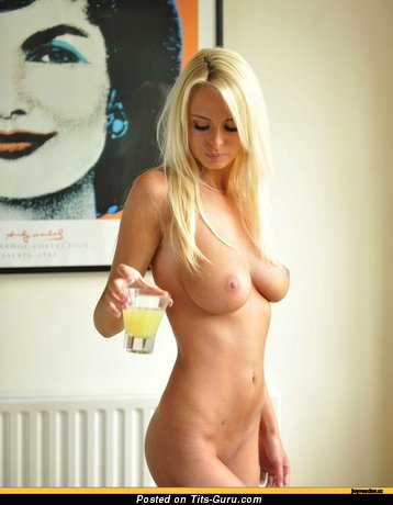 Image. Naked beautiful female with medium natural breast image