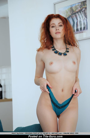 Adel C - Charming Topless Babe with Charming Bald Real Short Boobys (Sexual Foto)