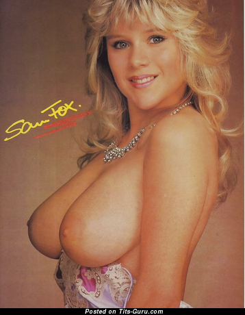 Image. Sam Fox - sexy naked blonde with big natural breast vintage