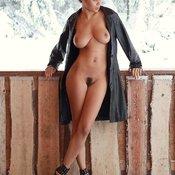 Nice girl with big natural boobies photo