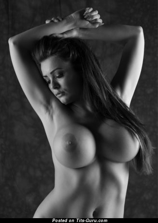Naked hot female with big fake tittys image