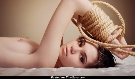 Image. Nude wonderful woman with small natural tots image