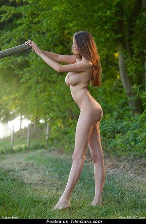 Image. Naked amazing woman with big tots photo