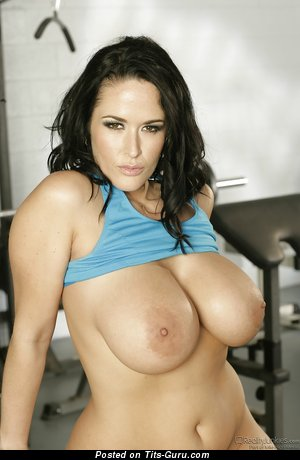 Carmella Bing - sexy naked brunette with big boobies and big nipples photo
