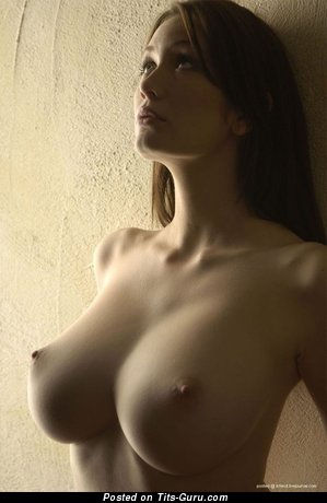 Nude amazing female with big breast image