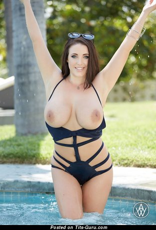 Image. Angela White - naked nice woman with big tots pic