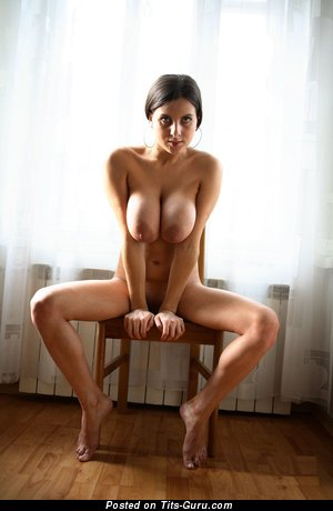 Image. Brunette with big natural tittys picture