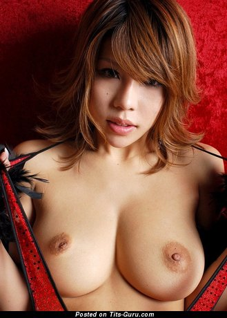 Fine Asian Skirt with Fine Nude Real Very Big Jugs (Sex Photoshoot)
