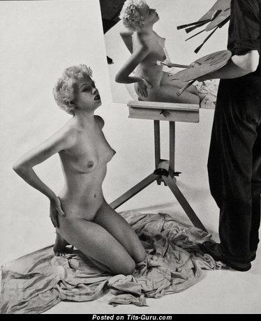 Nude hot lady with small natural boobies vintage