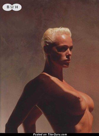 Brigitte Nielsen - Pleasing Danish Blonde Actress with Pleasing Bald Regular Tits (Xxx Pic)