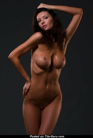 Orsolya Kocsis - Delightful Topless Brunette Babe with Delightful Defenseless Silicone Medium Boobie (Sex Wallpaper)