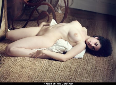 Image. Marina Lombardo - nude brunette with medium natural tits picture