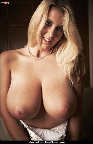 Rockell Starbux - Pleasing American Blonde Babe with Pleasing Bare Real Tits (Hd Porn Pic)