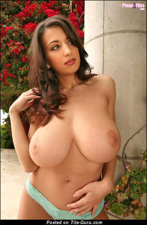 Image. Jana Defi - sexy nude brunette with big natural tits photo