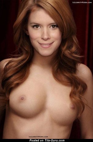 Kate Mara - Perfect Topless American Brunette Actress with Perfect Open Natural Firm Busts & Large Nipples (Sexual Pic)