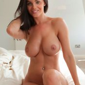 Brunette with medium natural tittys image