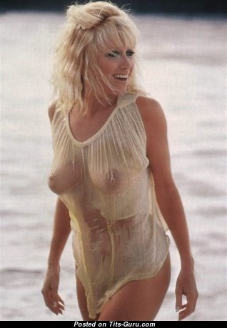 Suzanne Somers - Good-Looking Wet American Playboy Blonde Babe & Actress with Good-Looking Open Natural Medium Sized Boobies (Vintage Hd Sex Image)