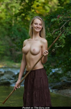 Carisha A - Pretty Miss with Pretty Exposed Natural Very Big Boobs (Porn Foto)