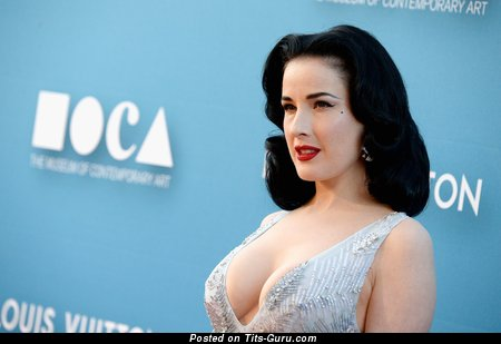 Image. Dita Von Teese - sexy naked amazing female with natural boobies image