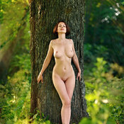 Beautiful woman with natural breast pic