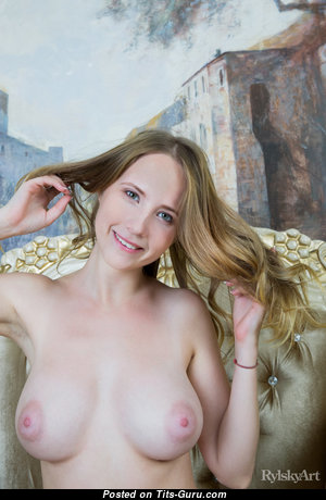 Delizi - Pleasing Glamour Blonde Babe with Pleasing Exposed Real D Size Boobys (Xxx Wallpaper)
