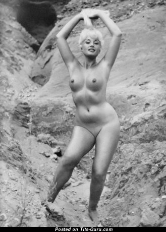 The Nicest Blonde with The Nicest Bare Real Knockers (Vintage Sex Picture)