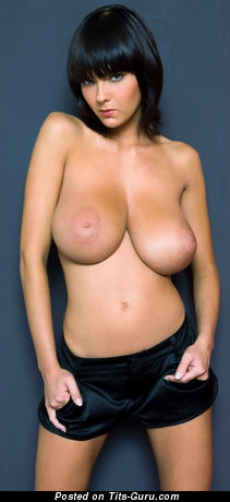 Image. Nude brunette with big natural tots picture
