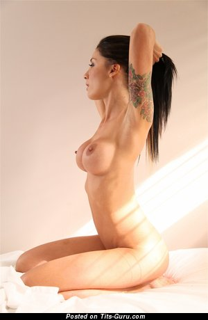 Image. Pipa Suicidegirls - naked awesome girl with medium fake tots and tattoo pic