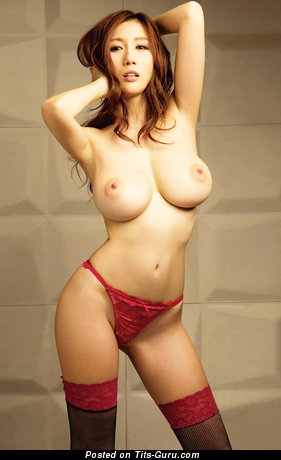 Image. Sexy nude asian red hair with big tittes picture