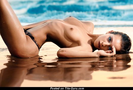 Magnificent Topless & Wet Skirt with Magnificent Defenseless Medium Busts on the Beach (Hd Sexual Pix)