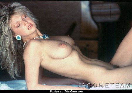 Corrine Russell - The Nicest Blonde Babe with The Nicest Bare Real Regular Hooters (Vintage Sexual Photo)