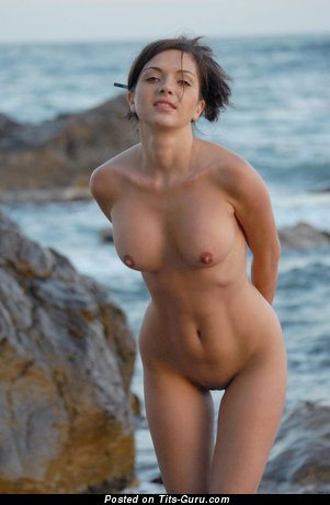 Image. Adel A - nude brunette with medium boobies pic
