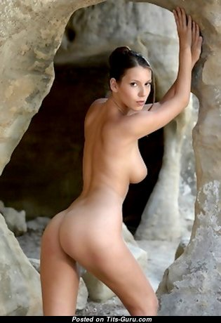 Angela - Yummy Topless & Glamour Brunette with Yummy Nude Real Knockers, Inverted Nipples, Tan Lines (Hd Sexual Picture)