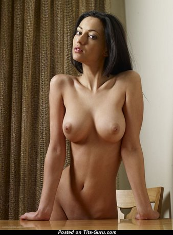Fascinating Brunette Babe with Fascinating Nude Natural Tight Tittes (18+ Pix)