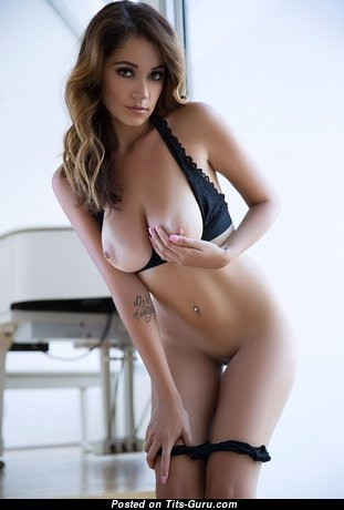 Pleasing Babe with Gorgeous Bald Natural Regular Boobie is Undressing (Hd 18+ Wallpaper)