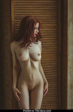 Image. Nude amazing lady with medium natural boobies picture