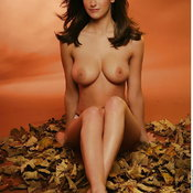 Katie Marie Cork - sexy naked brunette with medium natural boobies picture