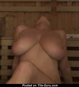 Ewa Sonnet - naked brunette with big natural breast gif