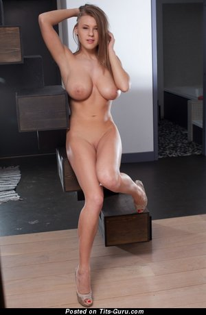 Image. Wonderful lady with medium natural breast picture