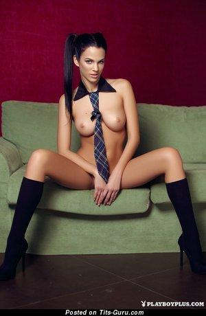 Naked wonderful girl with medium natural tots image