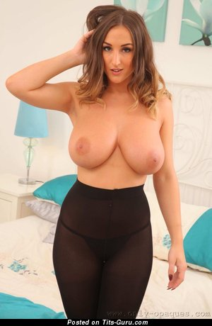 Stacey Poole - Marvelous Topless British Babe with Marvelous Bald Natural Tight Busts (Sexual Wallpaper)
