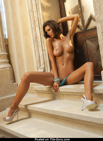 Image. Orsi Kocsis - naked brunette with medium natural boobs image