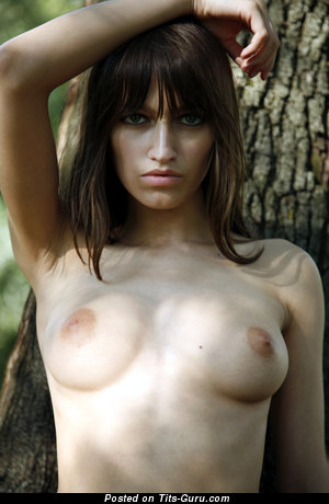 Image. Nude nice lady with medium natural breast pic