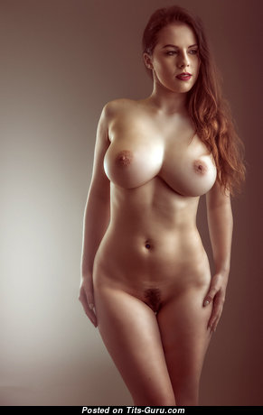 Jo Paul - Stunning Topless British Red Hair Babe with Stunning Naked Natural Medium Sized Boobie & Erect Nipples (Sex Image)